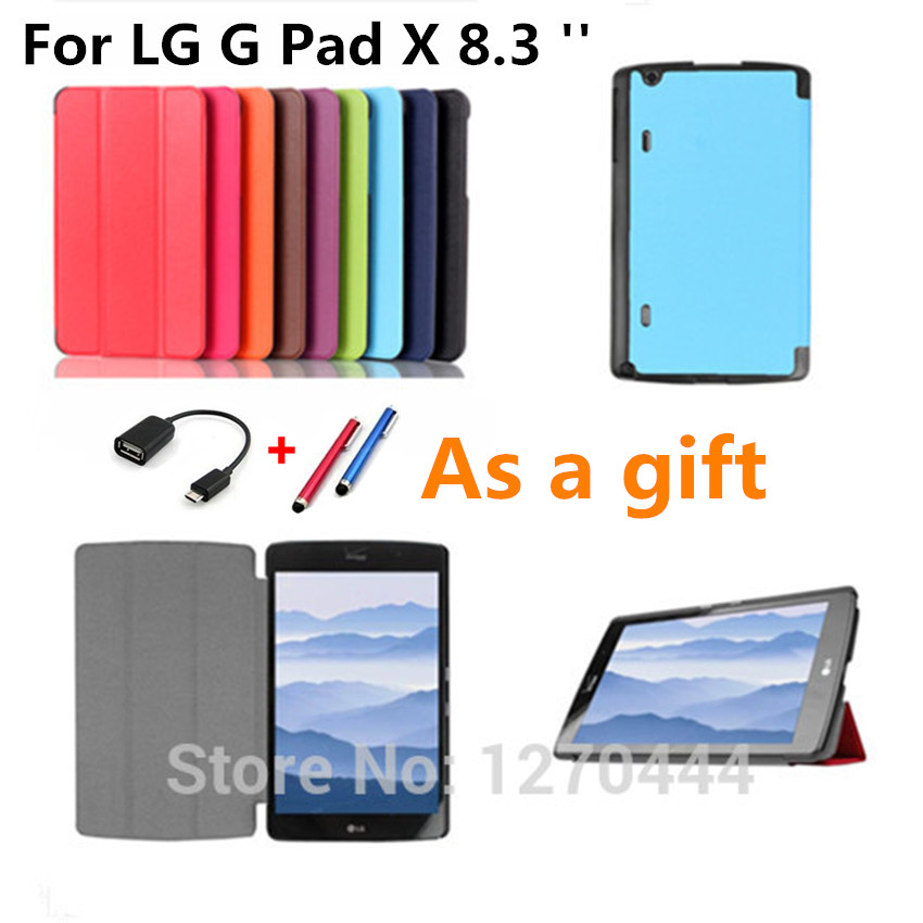 Case for LG GPad X tablet, Ultra Thin flip Custer leather smart Cases Stand Cover For LG G Pad X 8.3 VK815 Tablets fundas cases lg 49lh570v smart