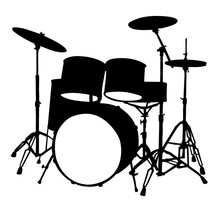 Musical Instruments Drums Wall Decal Home Decor Vinyl Removable Waterproof Wall Sticker Living Room