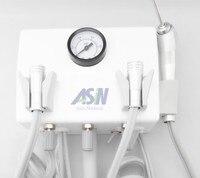 מעבדת שיניים תליית סוג קיר באיכות גבוהה צינור ידית ניידת טורבינת יחידה 2 יחידות 4 חור או 2 צינור חור