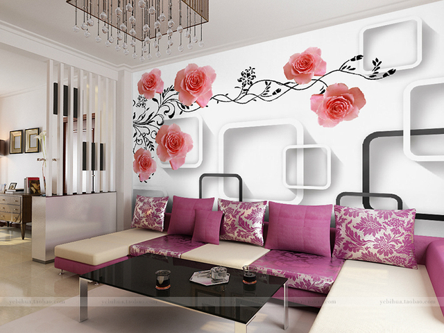 Buy custom 3d mural 3d wallpaper for Custom mural wall covering