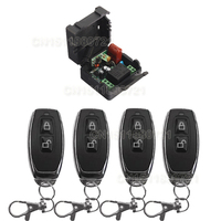 Receiver 4Transmitter 220V 1CH RF Wireless Remote Switch Light Lamp LED SMD ON OFF Switch Wireless