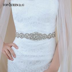 TOPQUEEN S161 свадебные ленты с кристаллами Свадебные аксессуары ремни для женщин лента для свадебного платья ремень невесты