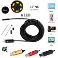 8mm Lens 1m 2-In-1 Waterproof Micro USB/USB Android Endoscope Borescope 2.0MP Tube Video Camera