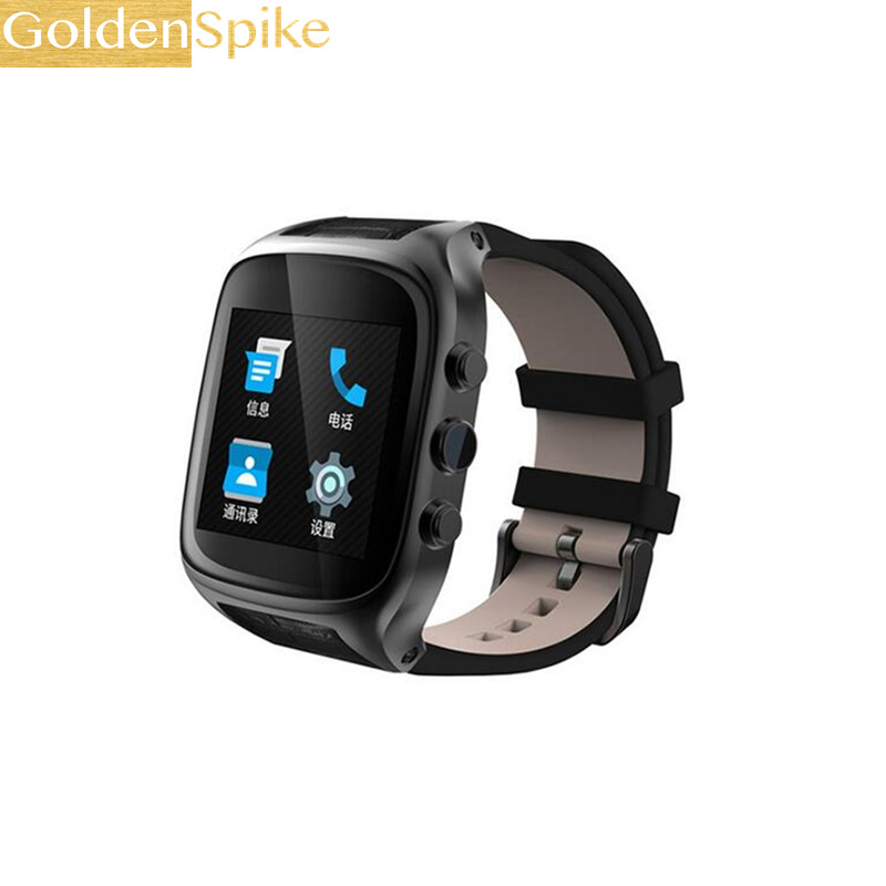 GoldenSpike X01S Android Smartwatch 3G WiFi Bluetooth 1G+8G GPS Smart Watch 1.3GHz Dual Core Heart Rate Watch with Camera pk H1 no 1 d6 1 63 inch 3g smartwatch phone android 5 1 mtk6580 quad core 1 3ghz 1gb ram gps wifi bluetooth 4 0 heart rate monitoring