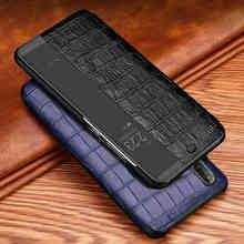 Cassa del Cuoio genuino Per Huawei P20 Pro Cassa Sveglia Della Copertura Del Telefono Intelligente Coque Per Huawei P20 Caso Con Finestra Vista