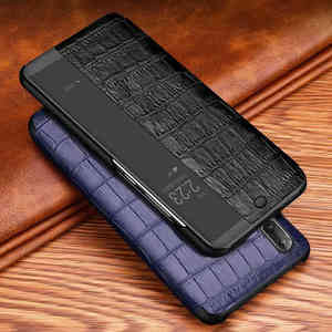 Image 1 - Genuine Leather Case For Huawei P20 Pro Case Wakeup Phone Cover Intelligent Coque For Huawei P20 Case With Window View