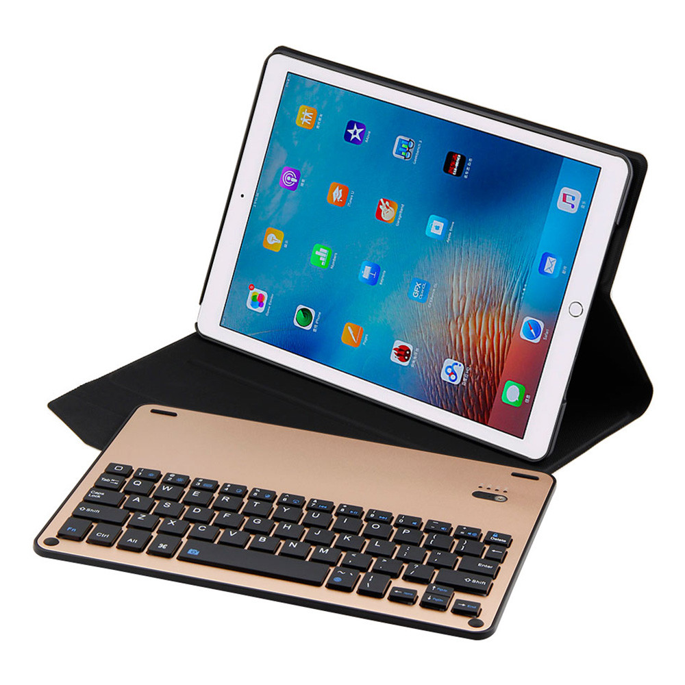 цены Ultra Thin Folio Cover With Removable Aluminum Bluetooth Keyboard For 10.5 iPad Pro