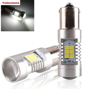 2 * Super blanco P21W 1156 7506 BA15S Alto rendimiento 21SMD bombillas...
