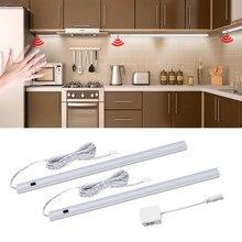 Światła podszawkowe led z czujnikiem ruchu ręcznego DC 12V 30 40 50cm dioda led twarda taśma lampka nocna do kuchni sypialnia