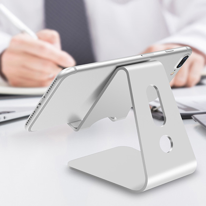 Mobile Phone Holder Stand Aluminium Alloy Metal Tablet Stand Universal Holder for iPhone X/8/7/6/5 Plus for Samsung Phone