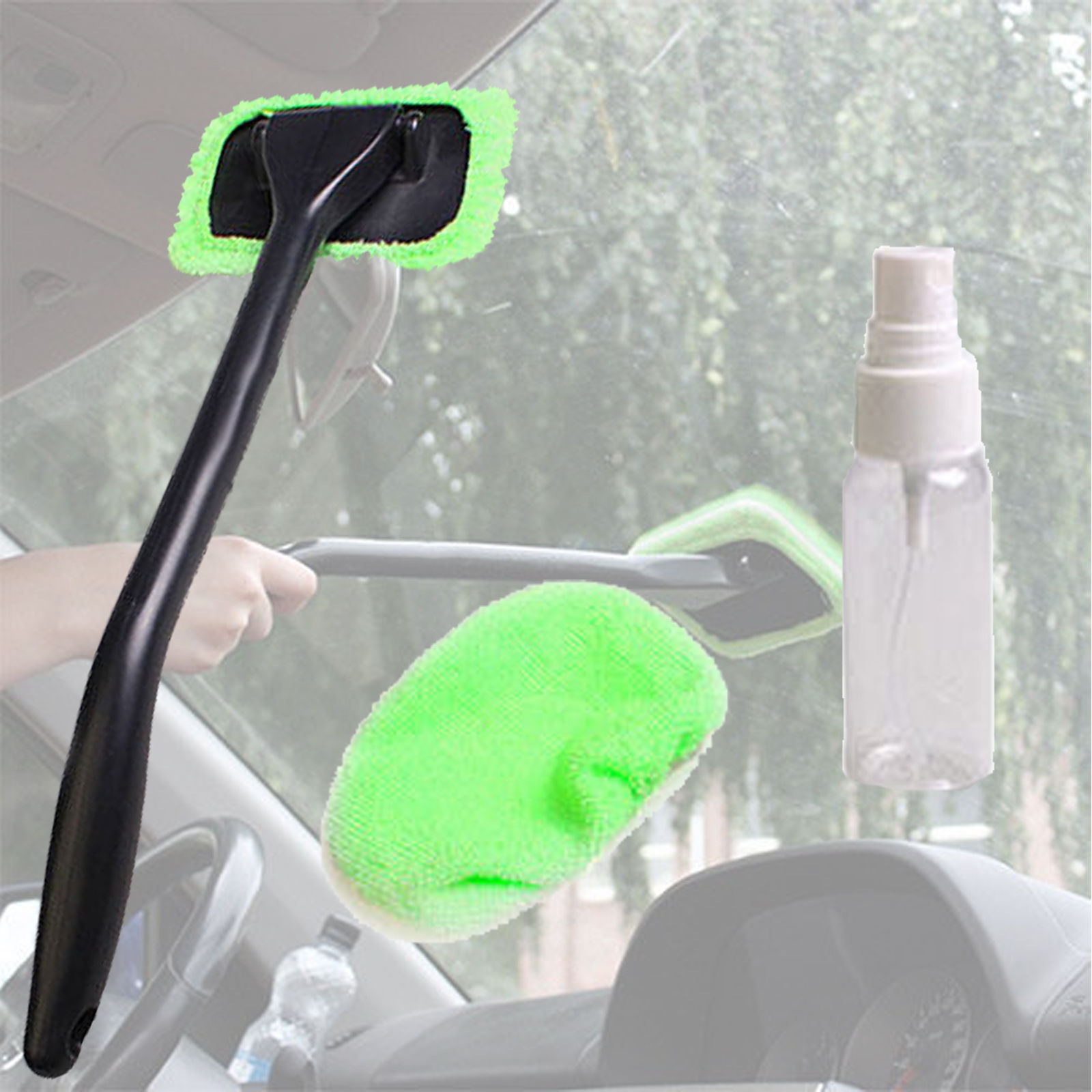 1pc Best Microfiber Long Handle Automobile Windshield Clean Car Wiper Cleaner Cloth Glass Window Tools Washable Car Care Brush