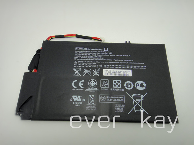 NUEVA Batería Original EL04XL, HSTNN-IB3R/UB3R, TPN-C102, 681879-1C1, 681879-171, 681879-541 para HP Envy TouchSmart 4-1000 X9-55