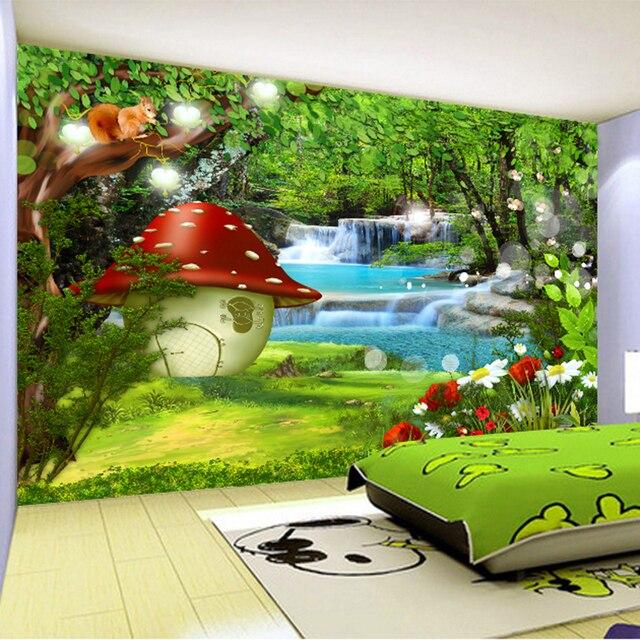Aliexpress Com Buy Custom 3d Mural Wallpaper Cartoon Forest