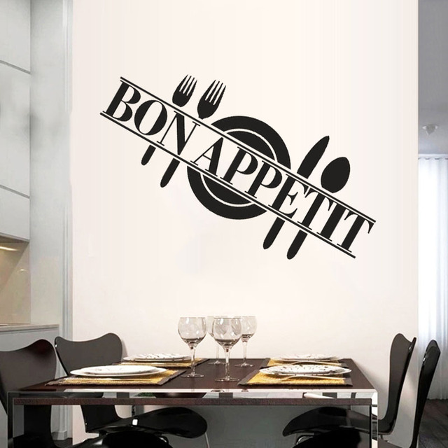 Buy cuisine bon appetit diy wall stickers kitchen rooms mura - Stickers muraux one piece ...