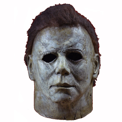 2019 New Michael Myers Mask Halloween Cosplay Horror Full Face Mask Scary Movie Character Adults  Cosplay Costume Props Toy chifres malevola png