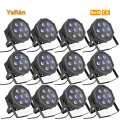 (12 pieces/lot)  high quality 7x10W 4in1 Quad RGBW Led Par light  Profile DMX 8 channels