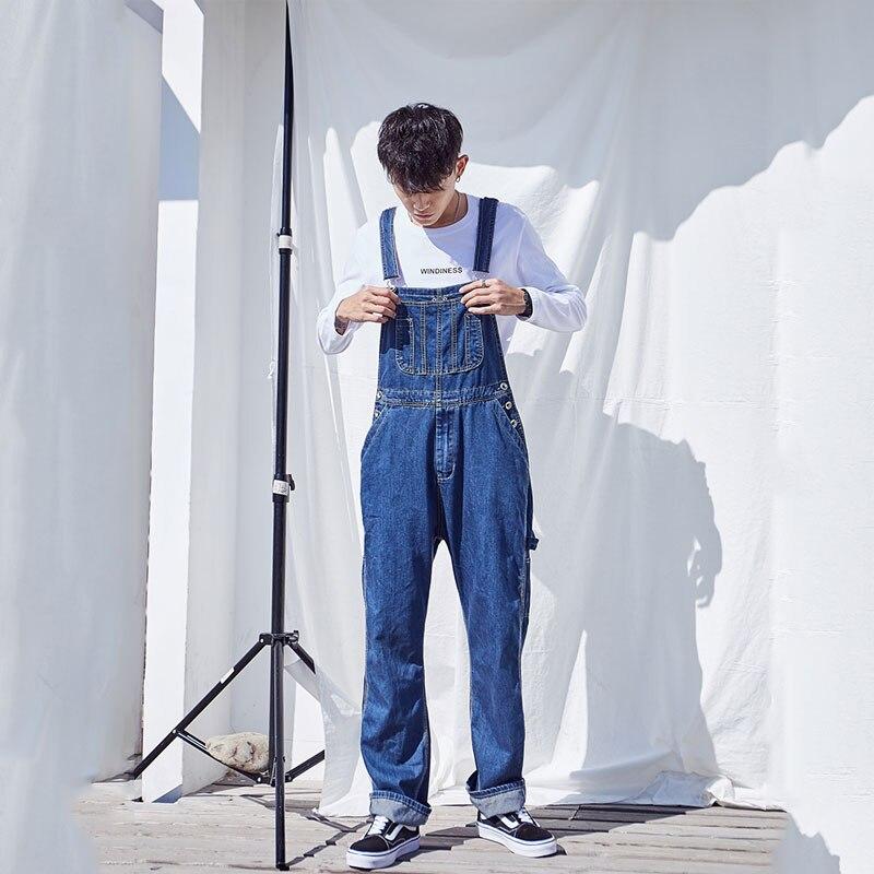 Hot 2019 Men's Plus Size Overalls Large Size Huge Denim Bib Pants Fashion Pocket Jumpsuits Male Free Shipping Brand 48 50