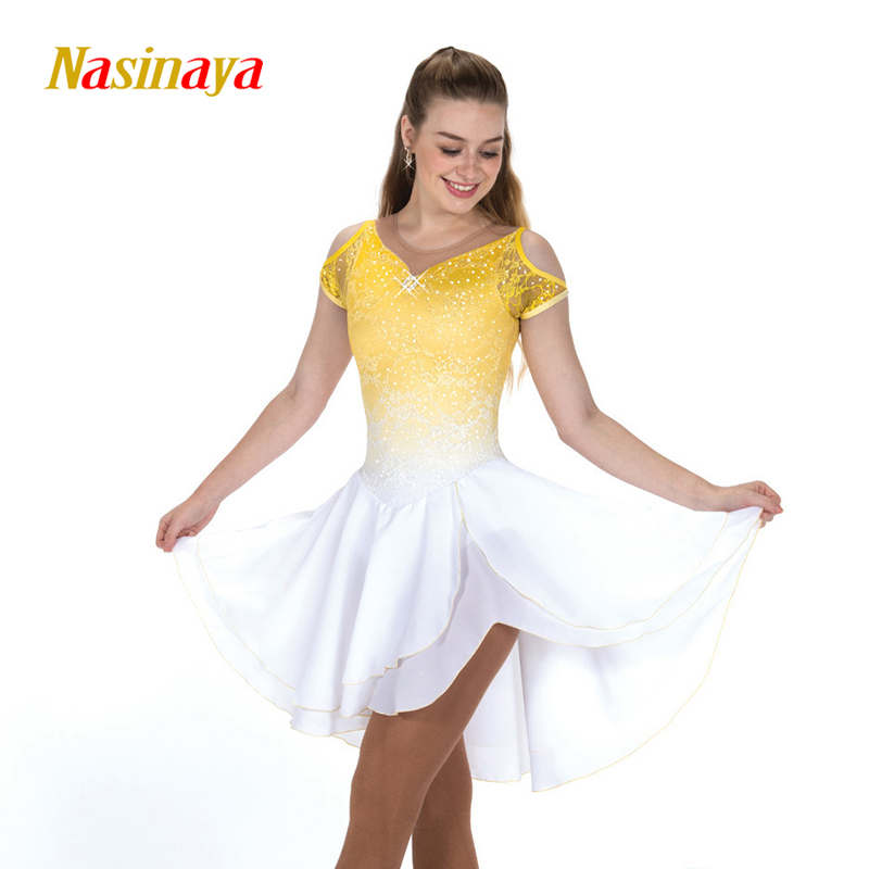 Nasinaya Figure Skating Dress Customized Competition Ice Skating Skirt for Girl Women Kids Patinaje Gymnastics Performance 309 in Gymnastics from Sports Entertainment