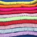 10yards 8 Colors Sale DIY Polka Dot Ribbon Silk Charm folds Pendant Necklace Rope Charms Findings String Cord 20 mm white