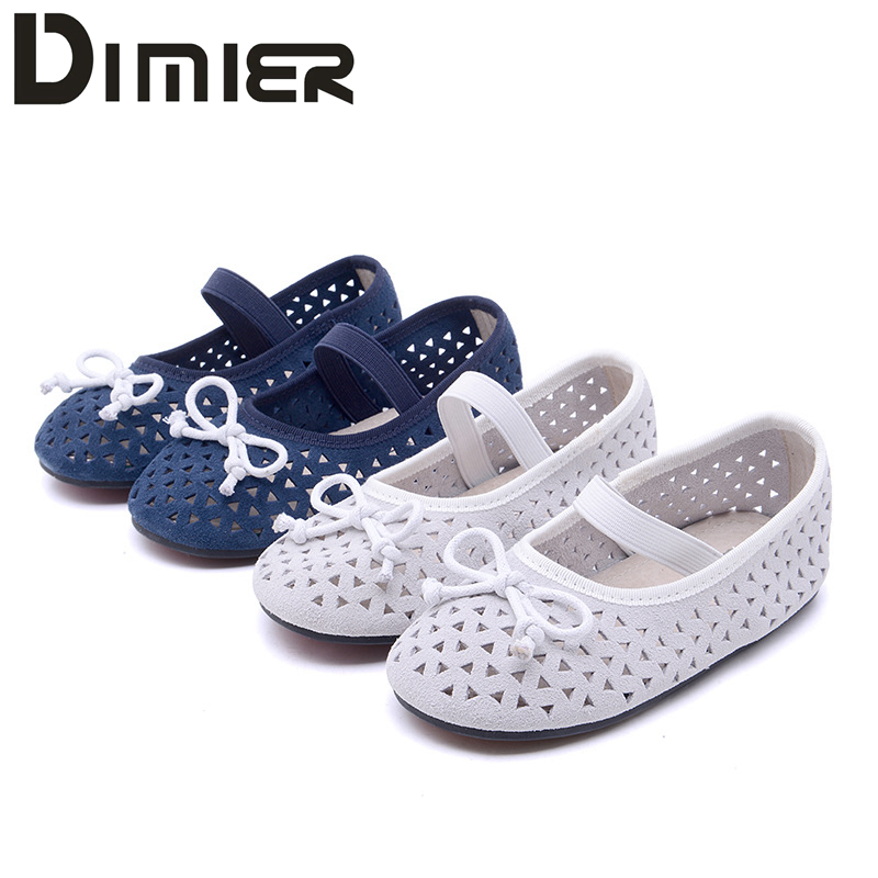 ФОТО 1-7Y Kids Girls Shoes For Children Hollow Spring Autumn New Girl Princess Baby Toddler Shoes Genuine leather Soft  Empty Shoes