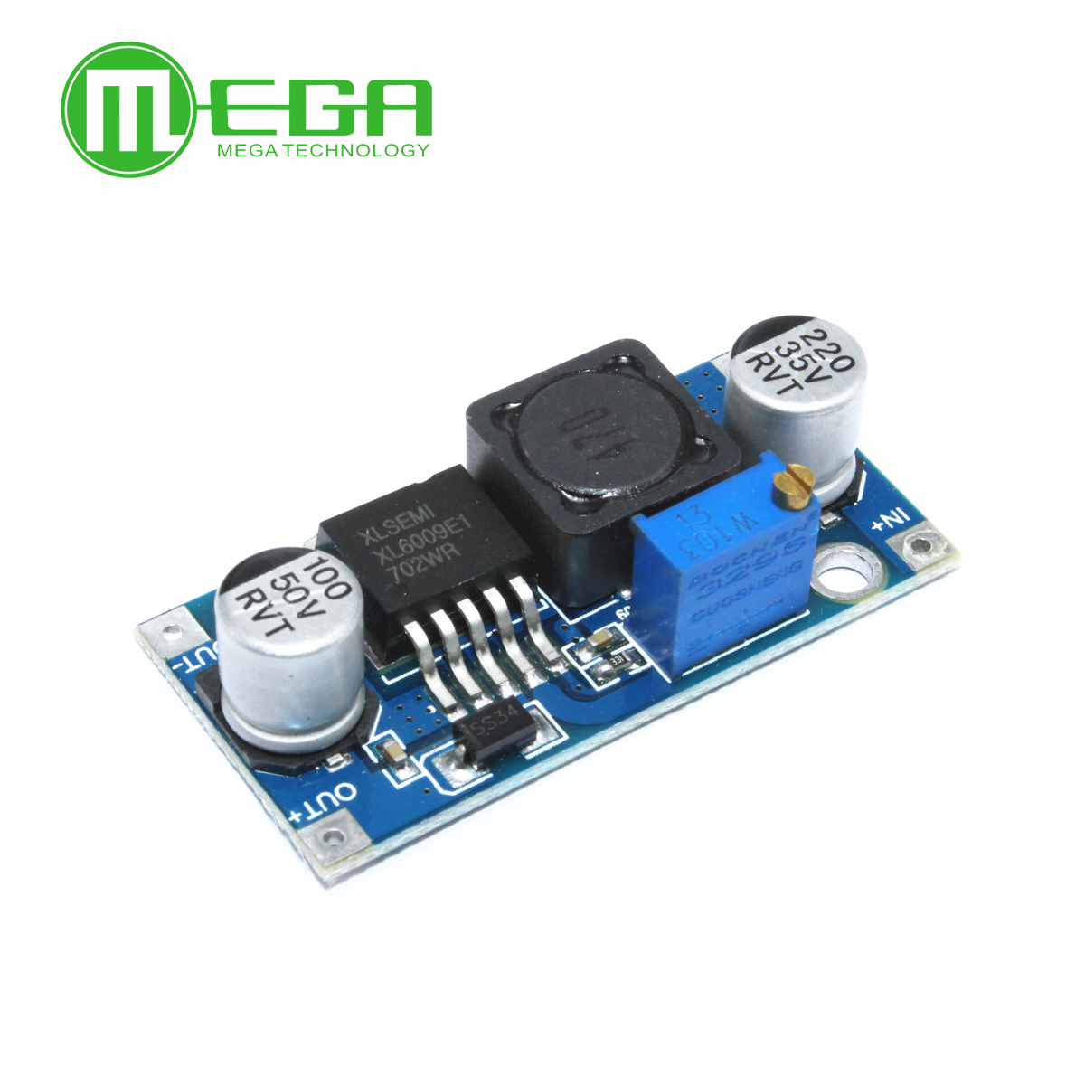 New  100pcs/lot XL6009 DC-DC Booster module Power supply module output is adjustable Super LM2577 step-up module