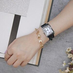 Image 4 - Agelocer 최고 브랜드 럭셔리 드레스 시계 빛나는 석영 시계 가죽 스트랩 시계 스틸 시계 3403a1