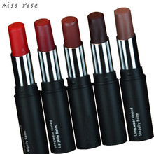 brand matte lipstick health lipstick lips batom mate Waterproof lip stick red lip Cosmetics makeup purple lipstick