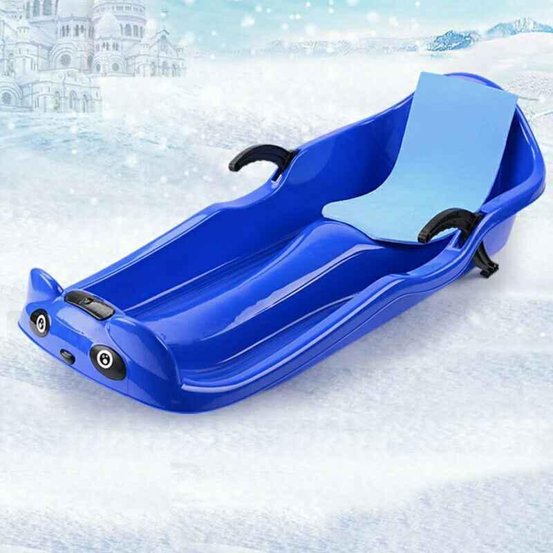 Mosichi Snow Sled,Thicken Kids Adult Snow Sled Sledge Ski Board ...