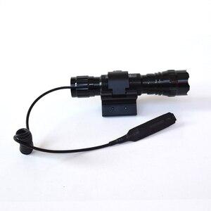 Image 4 - وضع واحد 3800Lm XML T6 LED التكتيكية مضيا 18650 مصباح شعلة linteras للصيد في الهواء الطلق المغناطيسي X بندقية جبل حامل