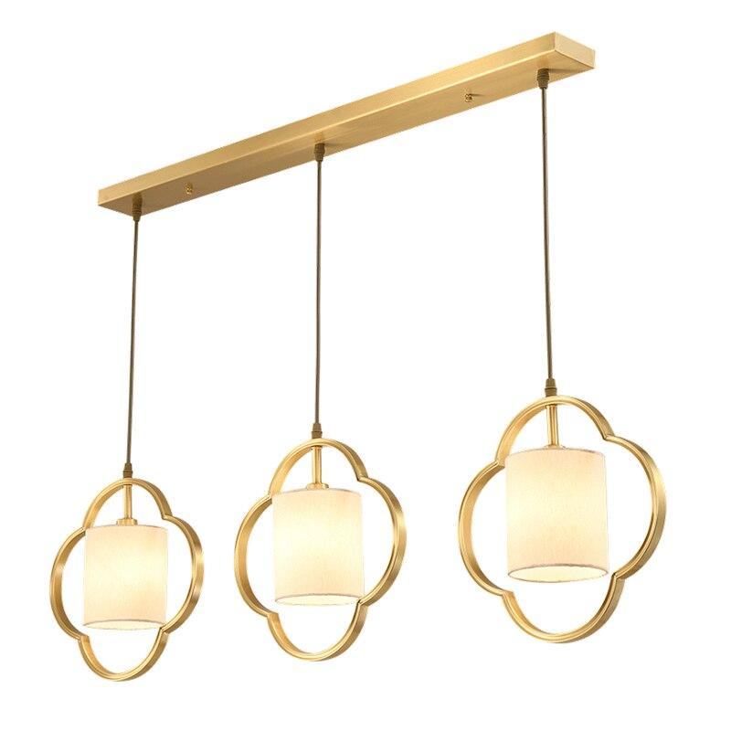 Американский натуральная ткань искусство подвесной светильник современный простой гостиной ресторана 3 головки комбо E14 светодиодный ламп