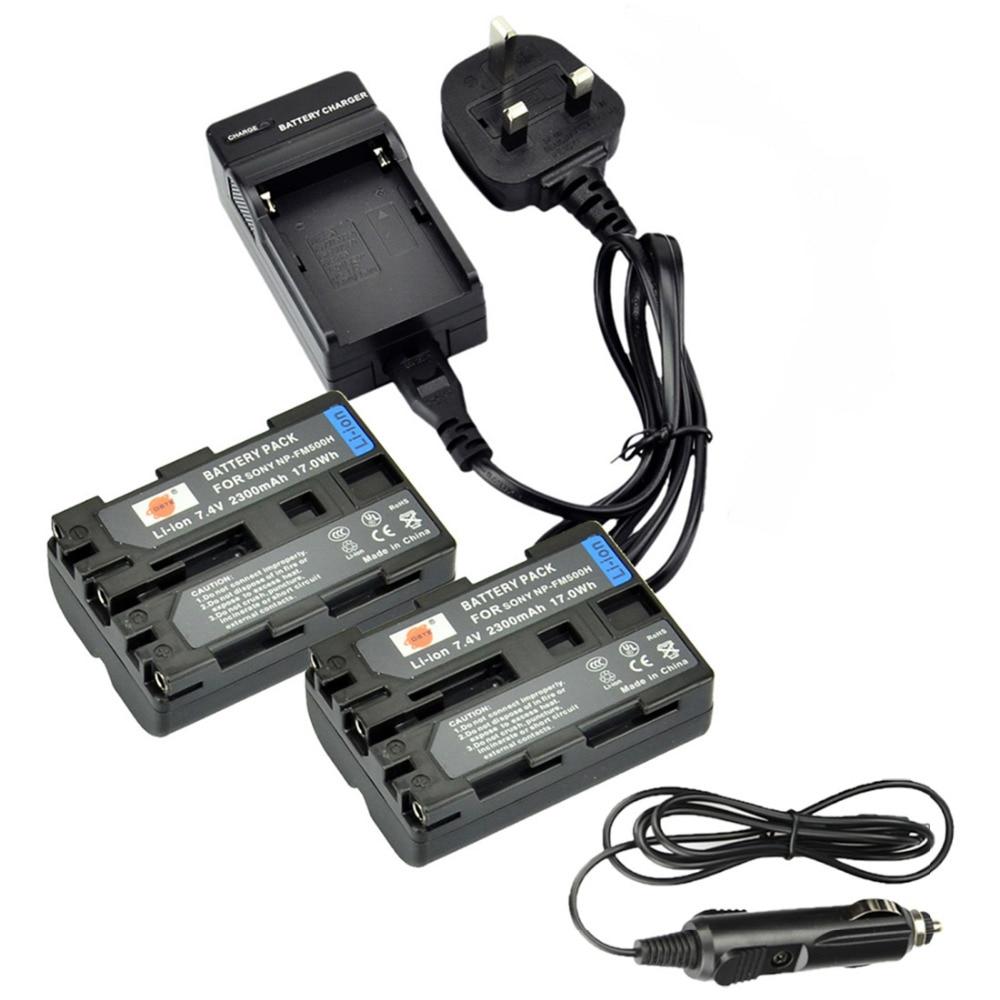 DSTE 2pcs NP-F970 np-f970 Battery + Travel and Car Charger for Sony MVC-FD100 FD200 FD5 FD51 FD7 FD71 FD73 FD75 FD81 FD88 Camera dste np fv100 7 4v 5700mah battery battery charger for sony camera black 100 240v
