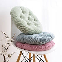 Cheap 40*40cm Cotton Hemp Round Cushion TaTaMi Mat Mat Chair Cushion For Long Sitting Not Tired Funny Pillow