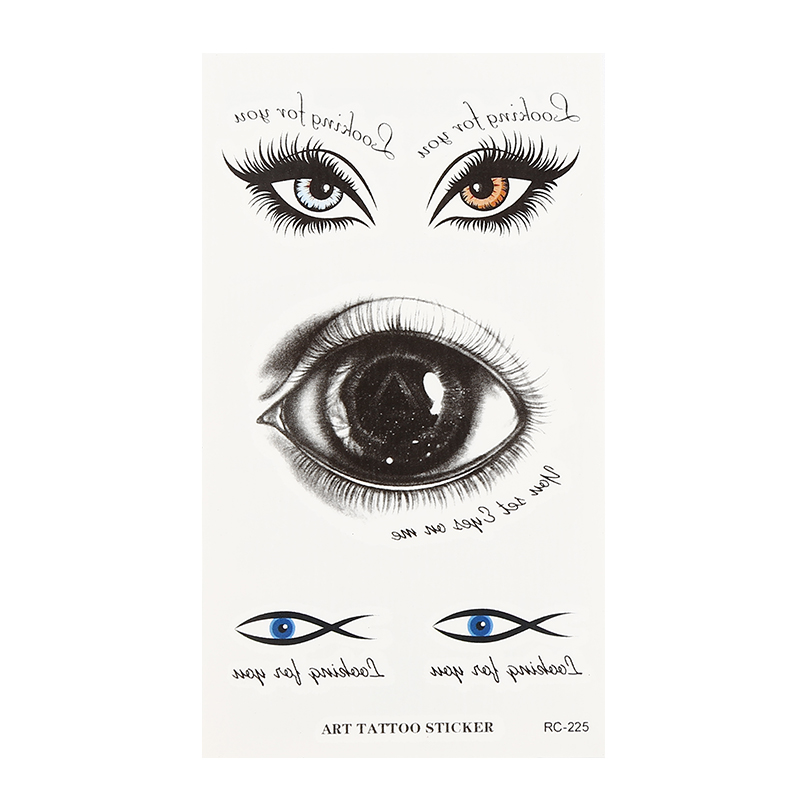 Halloween Big Eyes Weird Eyes Scary Eyes Tattoo Stickers Decals Waterproof Props Trick Bleeding Scary Eyes Temporary Tattoos