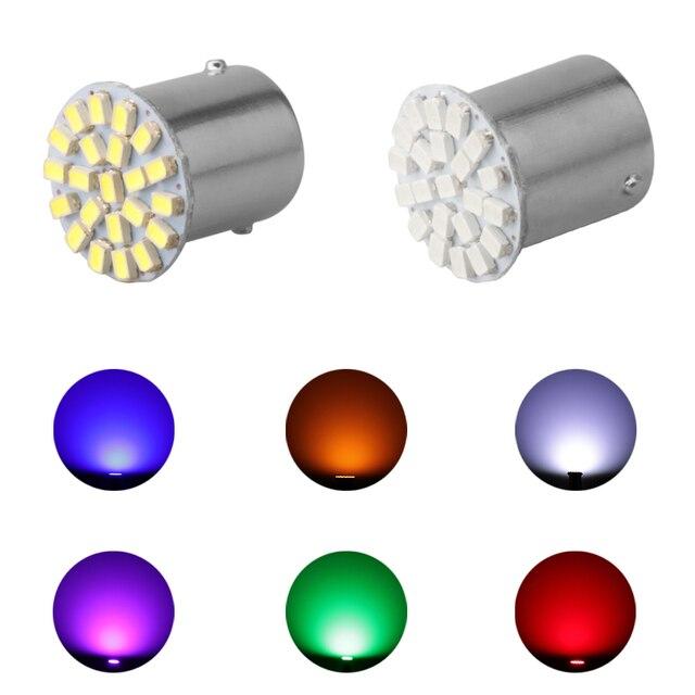 Hot Sale 12V 1156 1157 22SMD P21W BA15S BA15D LED Bulb Car Auto Front Lights Brake Lights Turn Lights Parking Lamp Bulbs