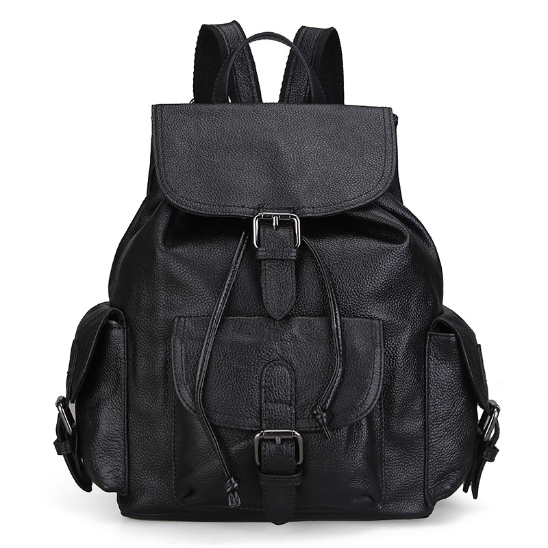 The new Korean version of the first layer of leather fashion leather shoulder bag ladies bag