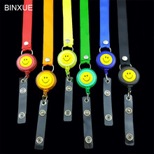 BINXUE Lanyard Easy to buckle badge Access control Can hang, you can clip Thickened muhifunctional polyester rope
