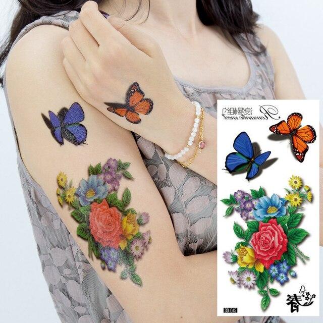 3d Kirsche Schmetterling Rose Grosse Blumen Sexy Wasserdicht