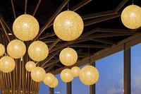 Chandelier chandelier lamp Garden Restaurant cane rattan living room study lamp pendant LED lamp