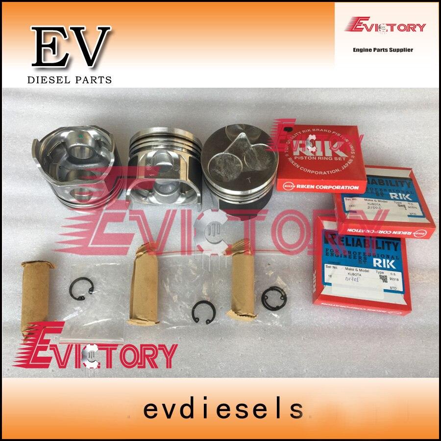 For Kubota engine overhaul kit D1305 piston and ring crankshaft & con rod bearing full cylinder head gasket