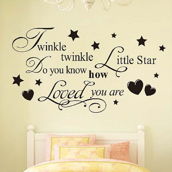 Twinkle Twinkle Little Star Home Decoration Wall Art Decals Quote Baby Girl  Bedroom/kids Room Decor Vinyl Wall Stickers In Wall Stickers From Home U0026  Garden ...