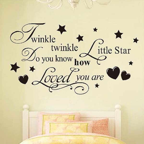 Twinkle Twinkle Little Star home decoration wall art decals Quote ...
