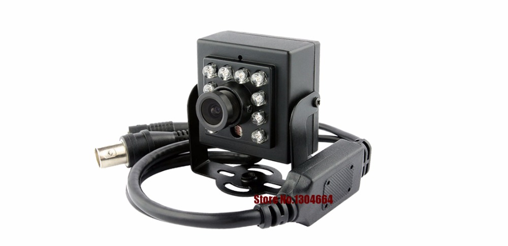 Mini hd cctv camera 800TVL 1/3SONY IR CCD 10 light infrared LED night vision with osd CCTV Security Video Camera free shipping