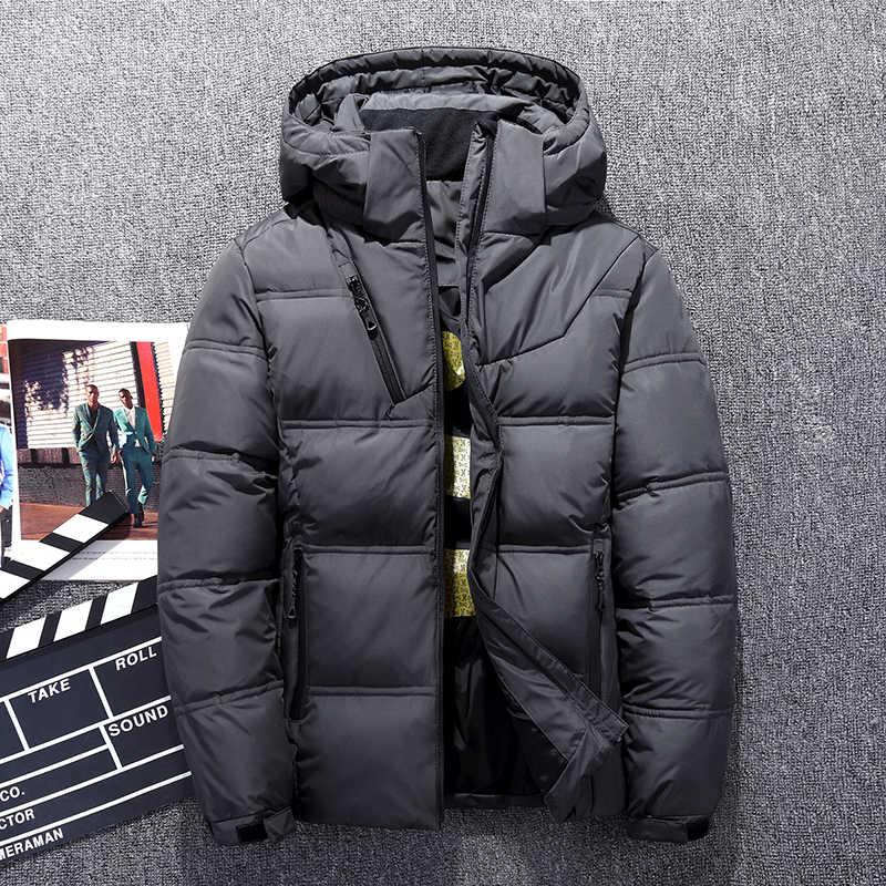 2018 брендовая зимняя мужская пуховая куртка повседневная мужской пуховик и пальто толстая Парка мужская верхняя одежда пуховик Мужская одежда