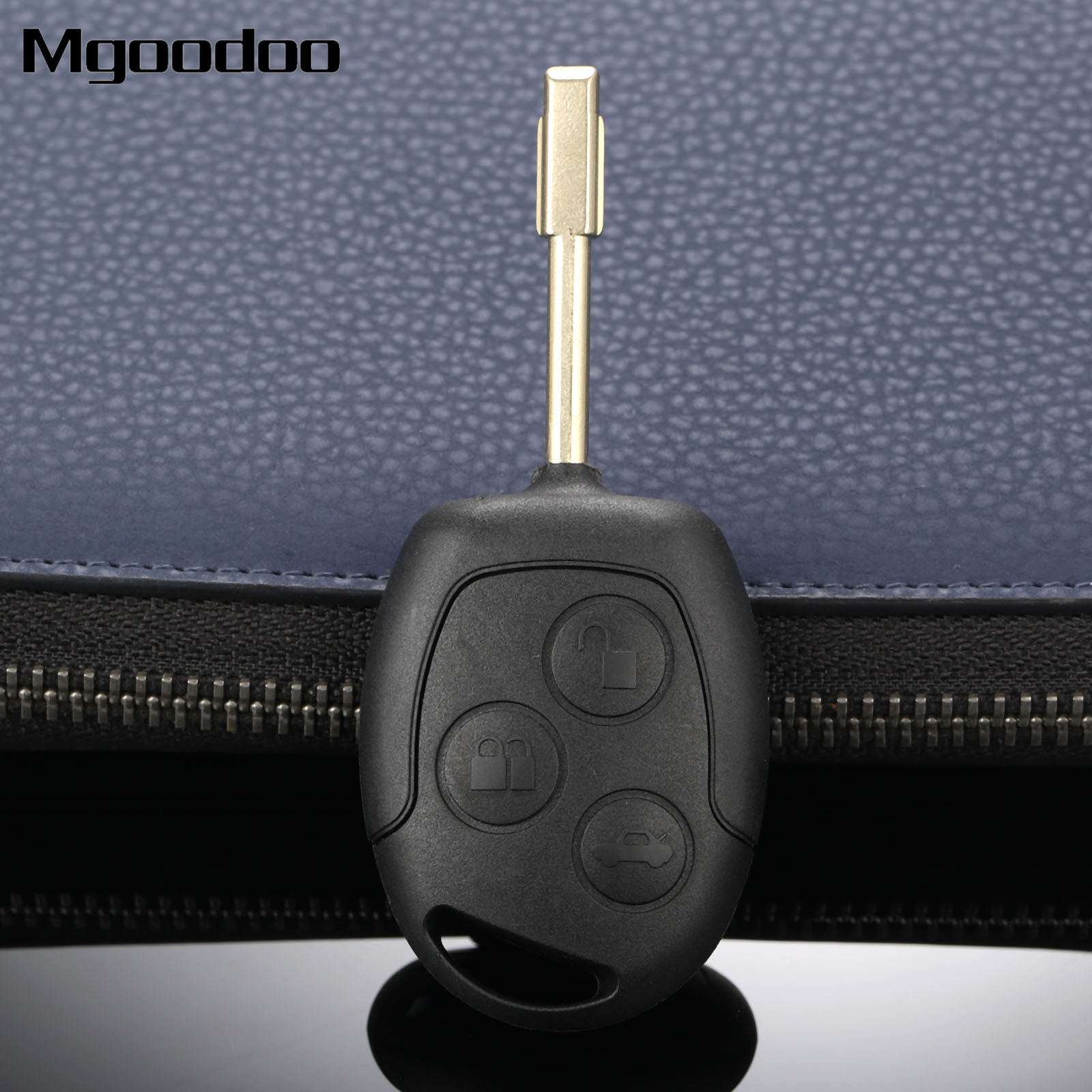 New 3 Buttons Remote Key Shell Case 433MHz ID60 Chip For Ford Fiesta Focus Mondeo KA Auto Replacement Keyless Remote Transmitter