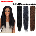Havana Mambo Twist Crochet Twist Hair Extensions Women Synthetic Hair Crochet Twist Braids Hair Havana Mambo Twist