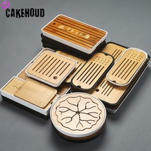 CAKEHOUD China Puer Tea Bamboo Tray Drainage Water Storage Table Kungfu Ceremony Board Service TeaAccessories