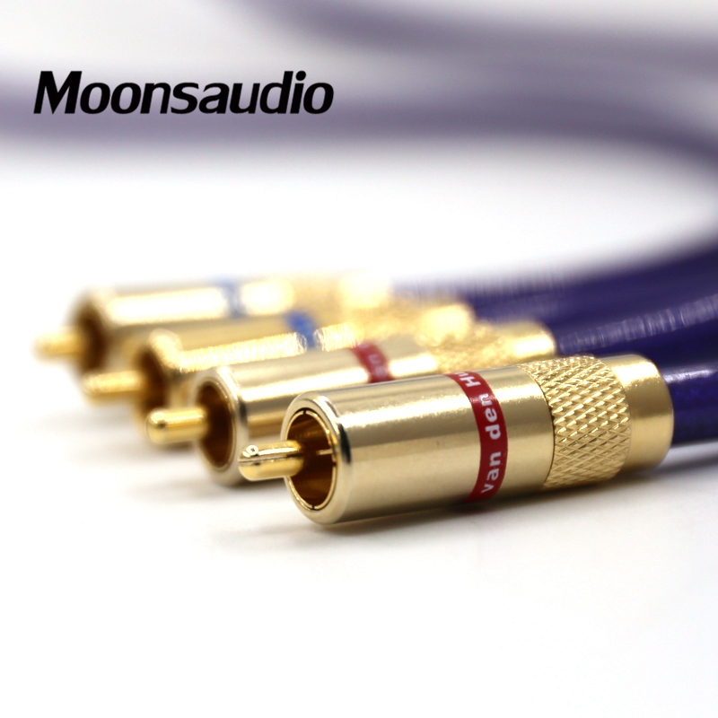 Image 2 - Free shipping Pair Van den Hul MC SILVER IT 65 RCA audio  interconnect cable with Gold plated RCA plugaudio interconnect cable -