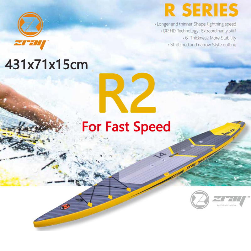 Planche de surf 431x71x15 cm 14ft JILONG Z RAY R2 gonflable sup COURSE RAPIDE conseil stand up paddle board surf VITESSE sport bateau bodyboard