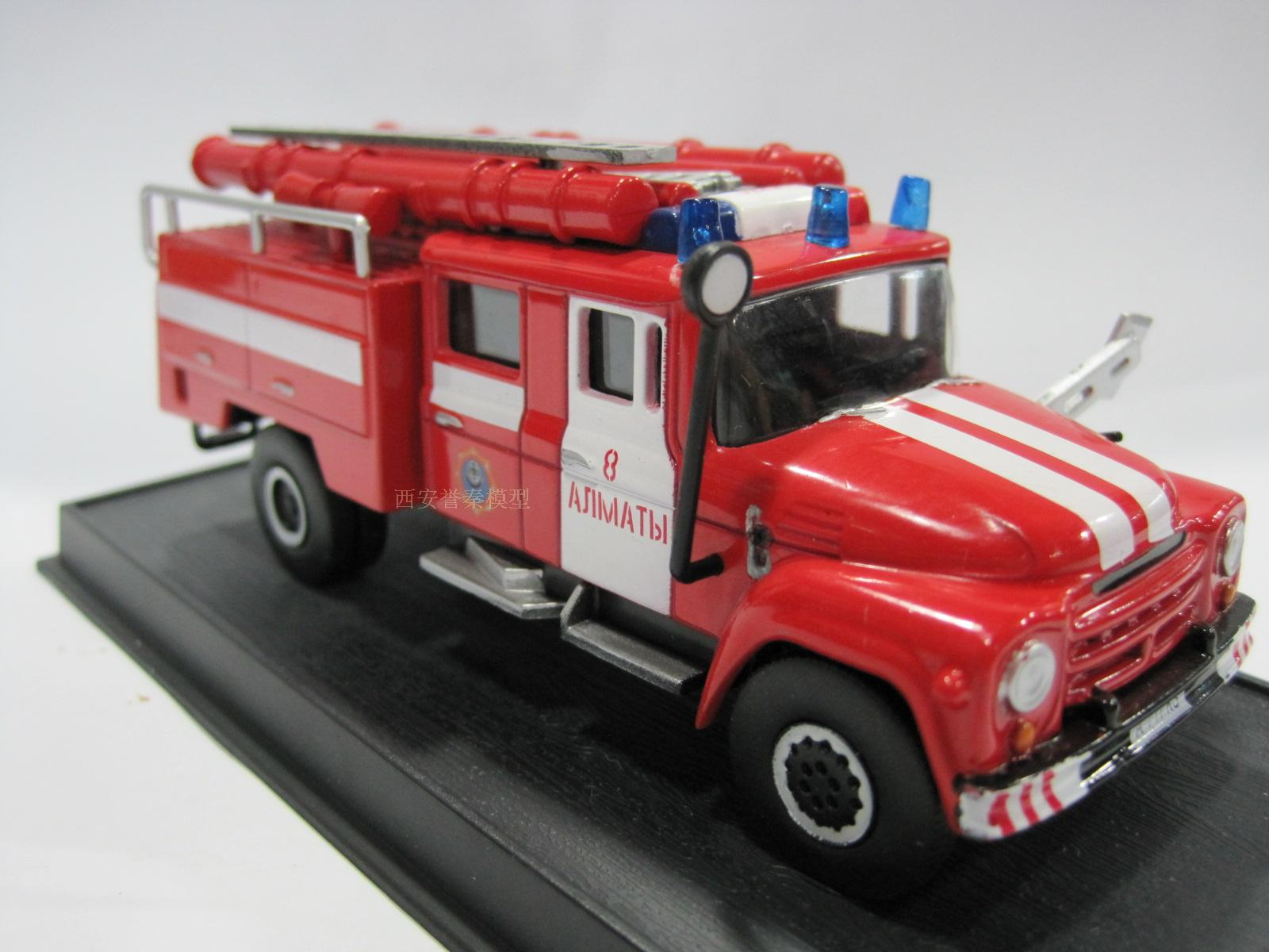 AMER 1/57 Scale 1964 ZiL 130-431410 Kazakhstan Fire Engine Diecast Metal Car Model Toy For Gift/Collection