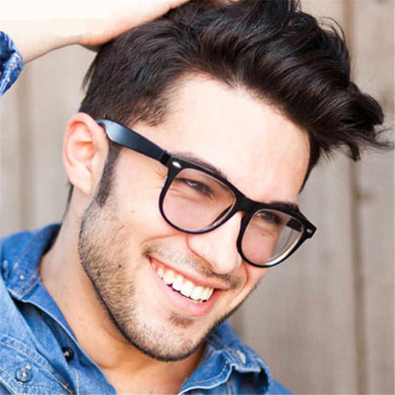 cbed4f18979b Fashion Clear Glasses Men Fake Glasses Square Eyeglasses Optical Frames  Male Reading Eyewear Spectacle Frames Transparent